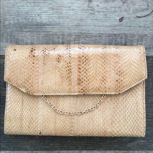 Neiman Marcus Genuine snakeskin clutch